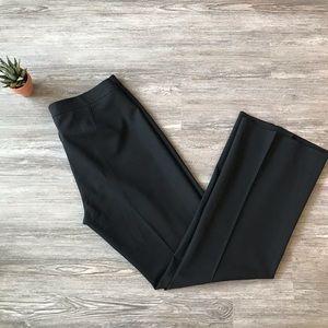THEORY WOOL STRAIGHT LEG BLACK DRESS BUSINESS PANT